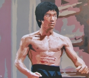 "tableau personnages cinema arts martiaux bruce lee operation dragon : BRUCE LEE "" opération dragon """
