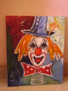tableau personnages clown original jaune : clown jaune