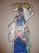 tableau personnages femme mere africaine culture : Inspiration africaine