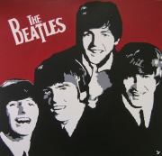 tableau personnages groupe musical annees 60 musique rock the beatles : THE BEATLES 2