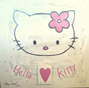 tableau personnages hello kitty enfant fille : Hello Kitty