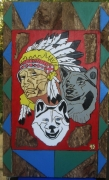 tableau personnages indiens loups usa : INDIENS LOUPS