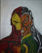 tableau personnages iron man mandarin ma avengers super heros comics stan lee super heroes : IRON MAN 3
