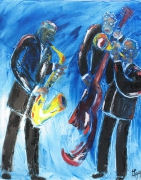 tableau personnages jazz band blue note musique : Jazz Band