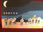 tableau personnages jazz musique orchestre : Moonlight Orchestra