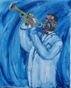 tableau personnages louis armstrong jazz blue note : Louis Armstrong