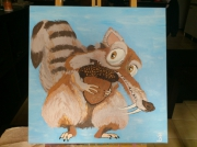 tableau personnages manga glace : scrat