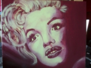 tableau personnages marylin cinema clair obscur bordeaux : marylin monroe