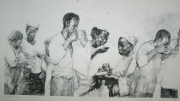 tableau personnages nigerian art yaba tech joe drawing pause time : BREAK TIME