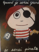tableau personnages petit pirate : Petit Pirate