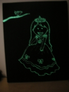 tableau personnages princesse enfant phosphorescent : princesse phosphorescente