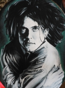 tableau personnages robert smith tableaux portraits the cure : Smith