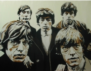 tableau personnages rolling stones groupe rock morlaix : Rolling Stones