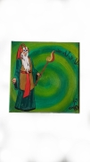 tableau personnages spirale magicien invocation vert : The Gaîa's hope