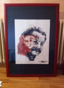 tableau personnages : Tableau Georges Brassens - Margot