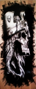 tableau personnages tete de mort skull king couronne : Crying skull king
