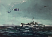 tableau scene de genre ww2 us navy destroyer dauntless : Destroyer US