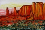 Tableau - The three sisters of Monument Valley