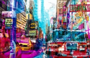 tableau villes pop art new york urban : Clean air zone