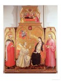 The Annunciation with St. Cosmas and St. Damian, 1409 - Taddeo di Bartolo