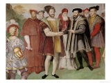 The Truce of Nice Between Francis I (1494-1547) and Charles V (1500-58) - Taddeo Zuccaro