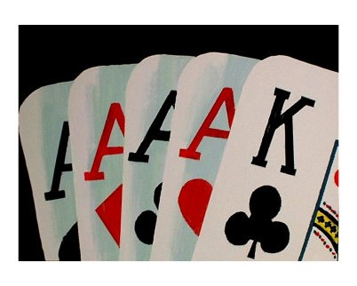 what are 4 aces in poker called strikes