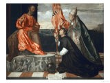 Pope Alexander Vi Presents Bishop Jacopo Pesaro to Saint Peter - Titian (Tiziano Vecelli)