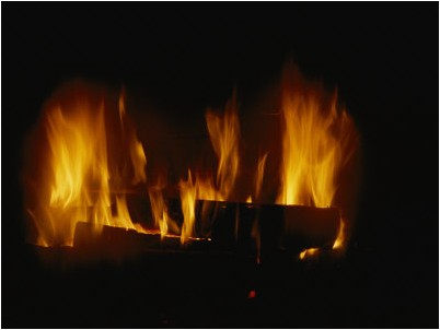 un feu de bois dans la chemine todd gipstein posters affiches d 39 art. Black Bedroom Furniture Sets. Home Design Ideas