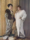 "Two ""Cocoon"" Style Evening Mantles in Unspecified Furs"