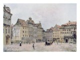 View of the North East Side of the Staromestsky Rynk in 1896, from 'Stara Praha' - Vaclav Jansa