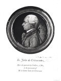 """Michel-Guillaume-Jean de Crevecoeur Frontispiece of His """"Sketches of 18th Century America"""" - Valliere"""