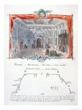 "Set Design and Stage Directions for an 1877 Production of ""Hernani"" by Victor Hugo, 1879 - Valnay Pere Et Fils"