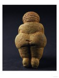 Venus of Willendorf (Back View), Limestone, Aurignacian (Late Paleolithic)