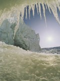View from Inside a Cave, Its Mouth Tined with Icicles