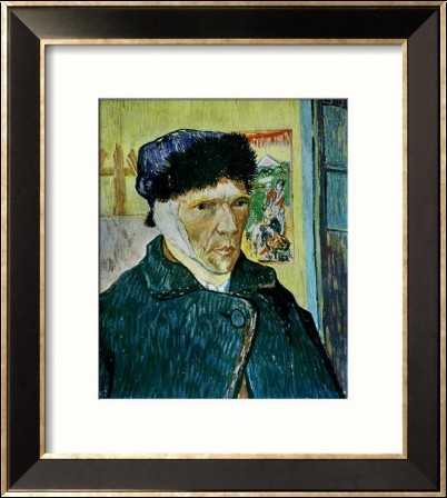 Autoportrait l oreille coup e reproductions d art plastifi es pictures to pin on pinterest - Van gogh autoportrait a l oreille coupee ...