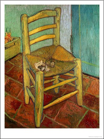 la chaise la pipe vincent van gogh posters affiches d 39 art. Black Bedroom Furniture Sets. Home Design Ideas