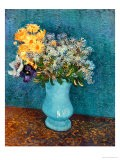Vase of Lilacs, Daisies and Anemones, c.1887 - Vincent van Gogh