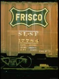 Railroad Box Car Showing the Logo of the Frisco Railroad - Walker Evans
