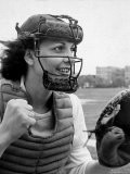 "Mary ""Binnie"" Baker Plays Catcher For All American Girls Baseball League on the South Bend Team - Wallace Kirkland"