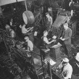 Overall Shot of the 44 Linotype Machines in the Government Printing Office - Walter B. Lane