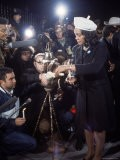Coretta Scott King and Press in White House After Assassination of Her Husband Luther King Jr - Walter Bennett
