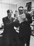 Humorists Art Buchwald and Russell Baker in Buchwald's Office - Walter Bennett