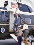 President Jimmy Carter Boarding Helicopter Marine 1 with Wife Rosalynn For an Easter Vacation - Walter Bennett