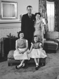 Sen. Lyndon Johnson and Family Wife Lady Bird, Daughter Lucy Baines, Age 5 and Linda Bird, Age 9 - Walter Bennett