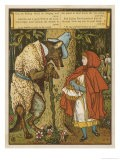 Little Red Riding Hood Meets the Wolf in the Woods - Walter Crane