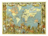 Map of the British Empire in 1886 - Walter Crane