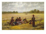 Harvesters Resting in the Sun, Berkshire, 1865 - Walter Field