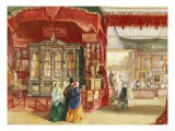 Part of the French Court No. 1. a Scene at the Great Exhibition, Crystal Palace, Dated 1851 - Walter Goodall