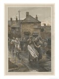 """Among the Missing"" Bad News on the Fishing Fleet's Return - Walter Langley"