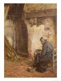 Old Woman Peeling Potatoes - Walter Langley